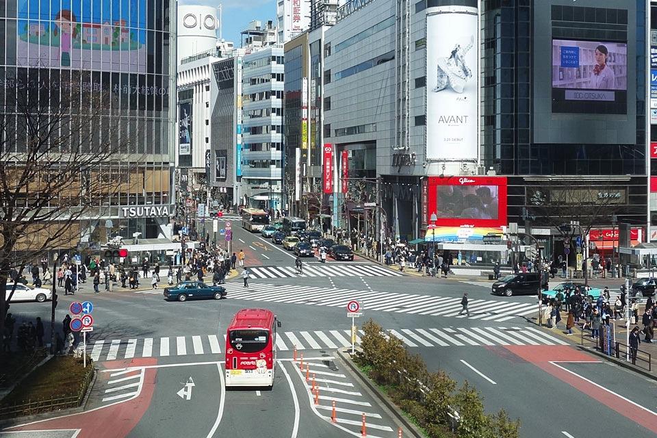 【那你呢あなたはロケ地】昼の渋谷スクランブル交差点