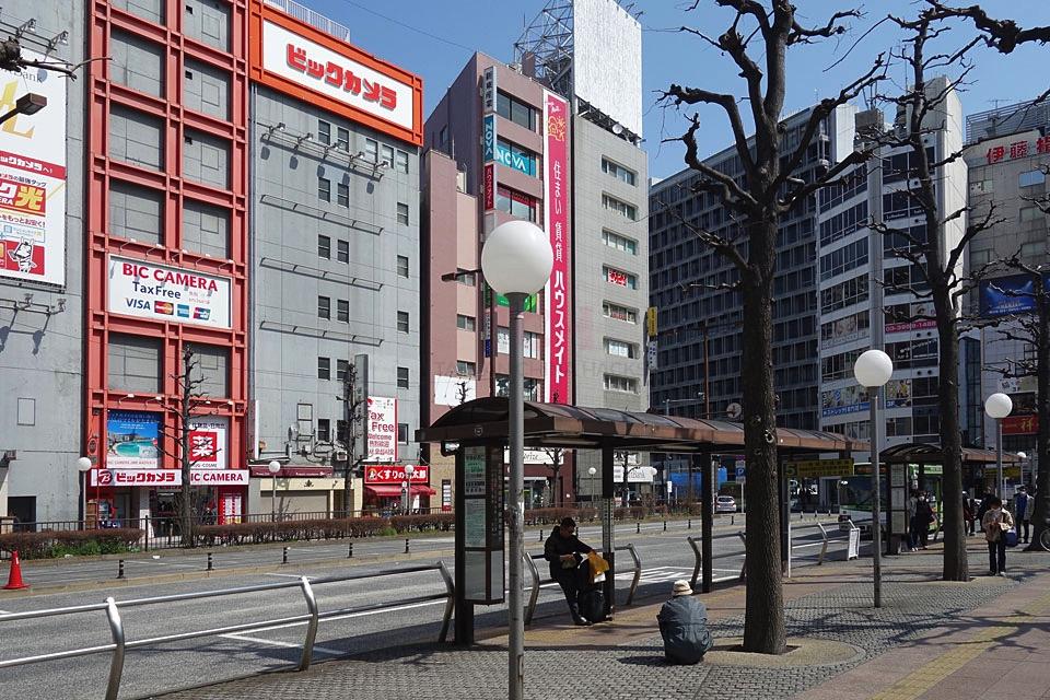 池袋西口東京芸術劇場前バス停