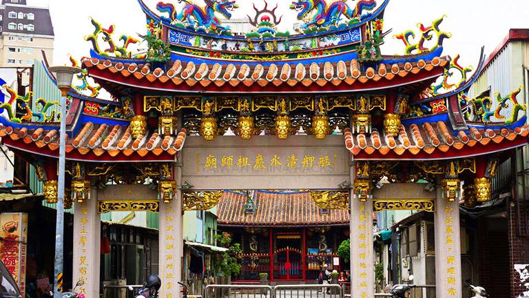 艋舺清水巌祖師廟(Bangka Qingshui Temple)【もうこうせいすいがん】