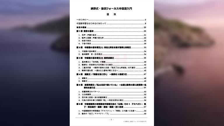 「網野式動詞フォーカス中国語入門」の具体的な内容