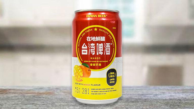 台湾ビール11.缶タイプの「マンゴービール」