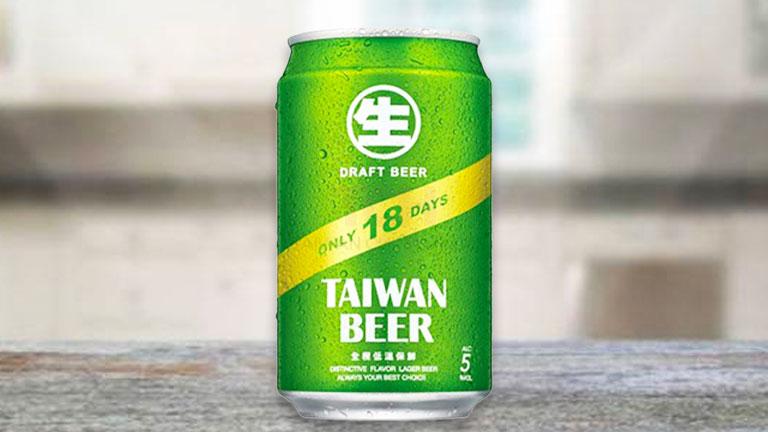 台湾ビール7.缶タイプの台湾ビール「18天 台湾生啤酒」
